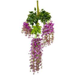 Height - 42 Inch - Hydrengea Wisteriya - Latkan - Flower Decoration - Artificial Latkan - Plastic Latkan - AF - 230 - Purpule Color - 1 Packet ( 12 Pieces )