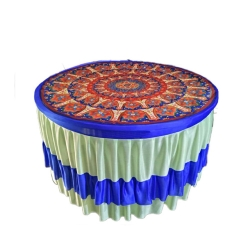 4 FT X 4 FT - 3D Table Cover - Round Table Cover - Top 16 KG Taiwan - Frill Brite Lycra - Multi Color
