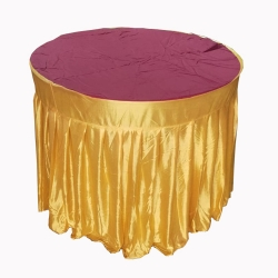 4 FT X 4 FT - Round Table Cover - Table Top Taiwan &  Jhalar Brite Lycra Cloth - Multi Color