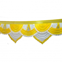 20 FT X 24 Inch - Jhalar - Mandap Jhalar For Wedding & Party - Made Of Heavy Brite Lycra Cloth