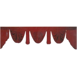 10 FT - Maroon Color - Jhalar - Mandap Jhalar For Wedding & Party - Made of Heavy Brite Lycra Cloth