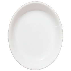 5 Inch Chat Plate - Snack Plate - Pani Puri Plate - Made Of Food Grade Virgin Plastic - White Color