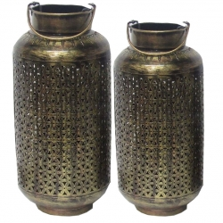 Decorative Lanterns - Hanging Lanterns - Khandil - Made of Iron (Set of 2)