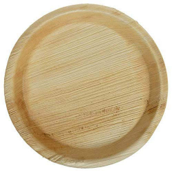 8 Inch - Disposable Dinner Plate - Eco-Friendly Disposable - Round Areca Leaf Plates