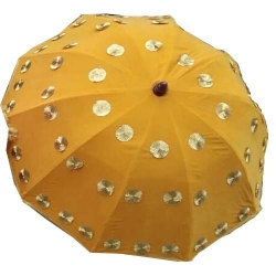 4 FT X 4 FT - Finish Fancy Umbrella - Wedding Umbrella - With Pipe - Yellow Color
