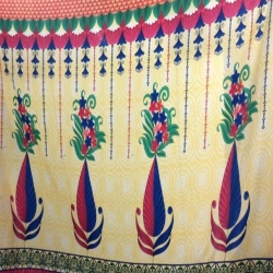 Kannath Print Cloth - Taiwan Side Wall Print - 72 Inch Panna - Diwal Print - Border Print - Multi Color