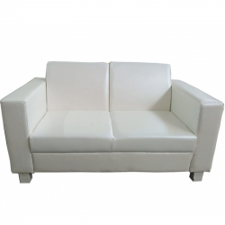 2 Seater Fold-able Sofa - VIP Sofa - Made Of Steel Rexin / Fome / wooden - White Color.