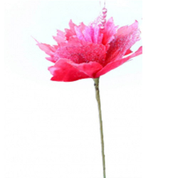Height - 24 Inch - Jari Flower Stick - Artificial Stick - AF- 479 - Stick - Pink Color