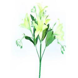 Height 13 Inch - Lily Bunch X 5 -  AF-261 - Leaf Bunch - Nimbu Color