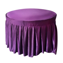 4 FT x 4 FT - Round Table Cover - Made of Premium Quality Lycra Cloth - Purple Color