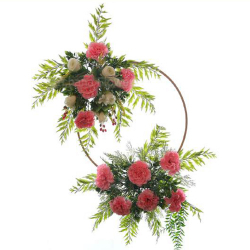 24 Inch  X 16 Inch - Hanging Frame Ring - Artificial Flower With Frame - For Indoor & Out Door Decoration - Multi Color