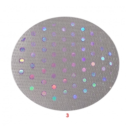 22 Gauge - TIKLI BRITE LYCRA - 54 Inch Panna with tikli Work  - Event Cloth - White Color