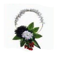 1 FT X 1 FT - Multi Color - Selfie Frame Ring - Artificial Flower With Frame - For Indoor & Out Door Decoration