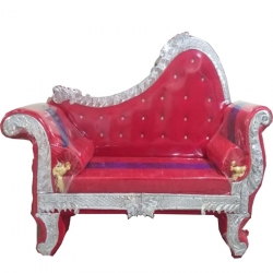 Red Color - Regular - Couches - Sofa - Wedding Sofa - Maharaja Sofa - Wedding Couches - Made Of Wooden & Metal