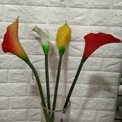 29 Inch - Artificial Flower Bunches - Rubber - Fake Flowers Artificial Plant For Wedding - Reception - Home Decor - Multi Color