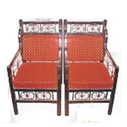 Mandap Chari Steel Chair - 100 % Stainless Steel - One Pair (2 Chairs) - Red Color.