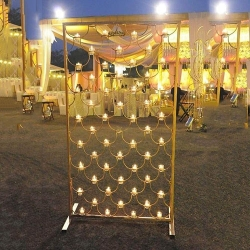 5 FT - Fancy Decorative Light Stand Indoor & Outdoor - Fancy Stand Without & Wire - Golden Color