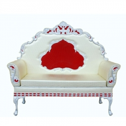Off White Color - Heavy Premium Metal Jaipur Couches - Sofa - Wedding Sofa - Wedding Couches - Made Of High Quality Metal & Wooden