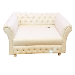 White Color - VIP Sofa - Rexine Sofa - Superior Quality Made of Wooden.