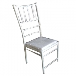 White Color - Banquet Chair - VIP Chair - Chair - Steel Chair - Wedding Chair - Made MS With Powdercoated