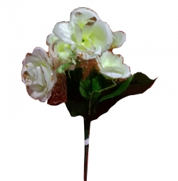 Artificial Flower Bunches - Fake Flowers Artificial Plant For Wedding - Reception - White Color