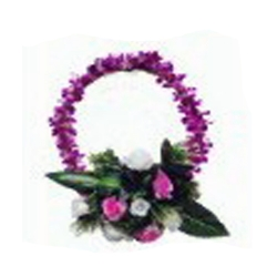 1 FT X 1 FT Multi Color - Selfie Frame Ring - Artificial Flower With Frame - For Indoor & Out Door Decoration
