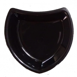 5 Inch - Oval Shape  Chat Plates - Made Of Food-Grade Virgin Plastic Material - Black Color