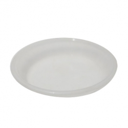 5 Inch - Round Chat Plate - Snack Plate - Pani Puri Plate - Made Of Food Grade Regular Plastic - Transparent
