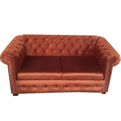 2 Seater Sofa - VIP Sofa - Made Of Steel & Fome - Maroon Color