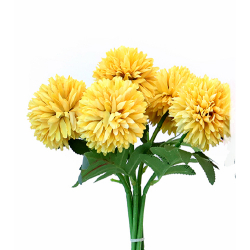 Height 11 Inch - Pot Bunch - AF-149 - Leaf Bunch - Yellow Color