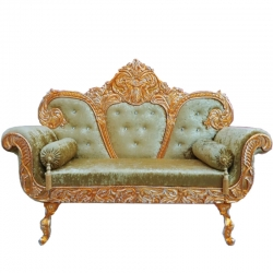 Green Color - Heavy Premium Metal Jaipur Couches - Sofa - Wedding Sofa - Wedding Couches - Made of High Quality Metal & Wooden