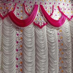 10 FT X 18 FT - Designer Curtain - Parda - Stage Parda - Wedding Curtain - Mandap Parda - Back Ground Curtain - Side Curtain - Made Of 24 Gauge Brite Lycra - Multi Color
