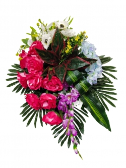Plastic Flowers Bouquet For Party / Wedding / Office Decoration / Multi Color.
