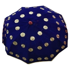 4 FT X 4 FT - Finish Fancy Umbrella - Wedding Umbrella - With Pipe - Blue Color