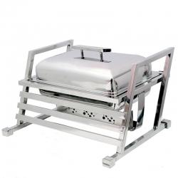 8 LTR - Chafing Dish - Hot Pot Dish - Garam Set - Buffet Set - Made Of Stainless Steel (6.5 Kg)