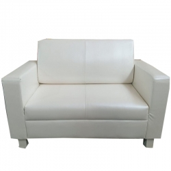 3 Seater Fold-able Sofa - VIP Sofa - Made Of Steel  & Rexin / Fome / wooden  - White Color