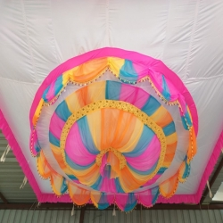 15 FT X 15 FT - Designer Mandap Ceiling - Wedding Top - Cloth Pandal - Made of 16 KG Taiwan - Design 26 Gauge Brite Lycra Cloth