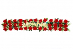 4 Feet Plastic Artificial Flower Cannel Patta / Main Door Hanging For Wedding & Decoration.