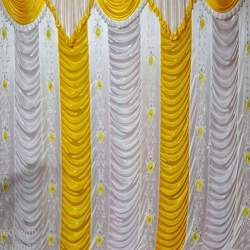 10 FT X 15 FT - Parda - Curtain - Stage Parda - Wedding Curtain - Mandap Parda Made Of Brite Lycra Embroidery.