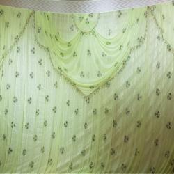 12 FT X 15 FT - Designer Curtain - Parda - Stage Parda - Wedding Curtain - Mandap Parda - Back Ground Curtain - Side Curtain - Made Of 24 Gauge Brite Lycra - Light Green Color