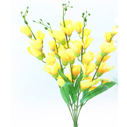 Height 24 Inch - Heavy Glad Bunch X 5 - AF- 312 - Leaf Bunch - Yellow Color