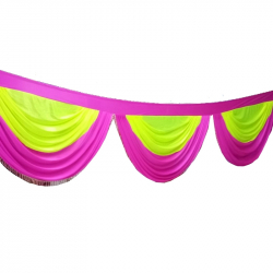30 Ft Jhalar - Mandap Jhalar For Wedding & Party - Made Of Heavy Brite Lycra Cloth