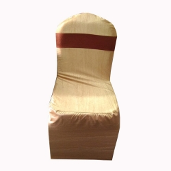 Chair Cover Without Handle For Plastic Chair - Yellow & Red