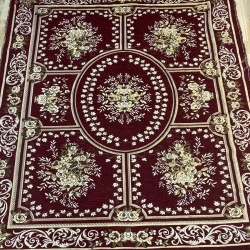 9 FT X 12 FT - Galicha - Carpet - Rugs - Dhurrie - Dari - Floor Mat - Satranji - Made Of Cotton - Brown Color