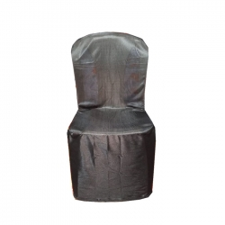 Lycra Chair Cover For without Handle Plastic Chair - Black Color.