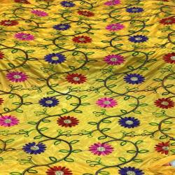 22 Gauge - Designer Bright Lycra - Embroidery Work - Dori Work - 54 Inch Panna - Threadwork & Sequence Work - Multi Color