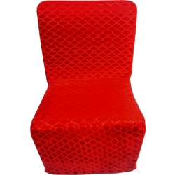 Chair Cover - Heavy Velvet - Fabric - Red Color