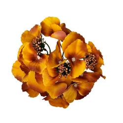 6 Inch - Loose Flower - Artificial Flower - Ceiling Flower - Flower Decoration - Dark Yellow Color