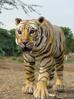 Fiber Tiger Statue - Tiger - Indoor & Outdoor - Made of Fiber