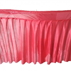 Table Cover Frill - Made of Brite Lycra - 24 Gauge - Red Color (Size Available 15 FT X 20 FT X 30 FT)